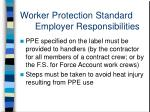 worker protection standard employer responsibilities13