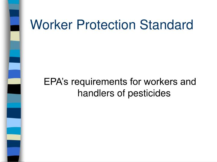 worker protection standard n.
