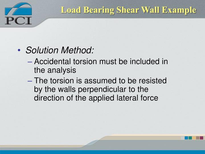 Load Bearing Shear Wall Example