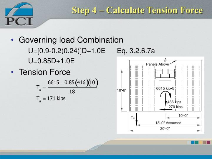 Step 4 – Calculate Tension Force