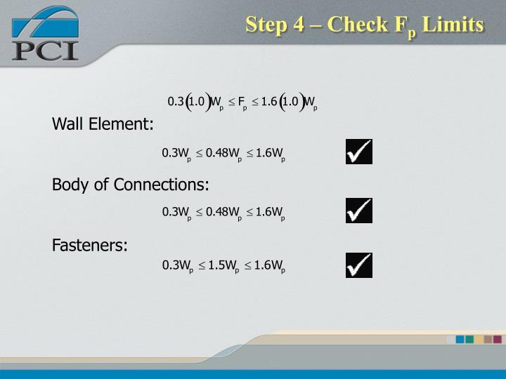 Step 4 – Check F