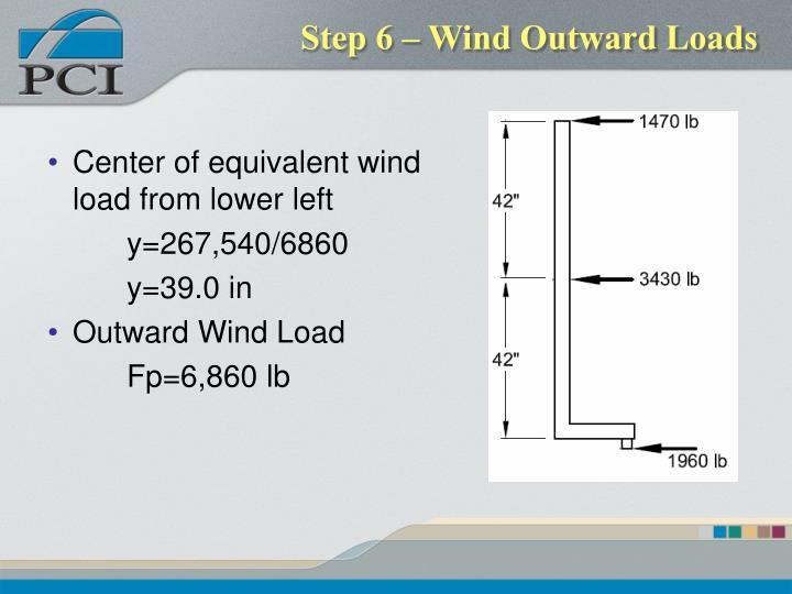 Step 6 – Wind Outward Loads