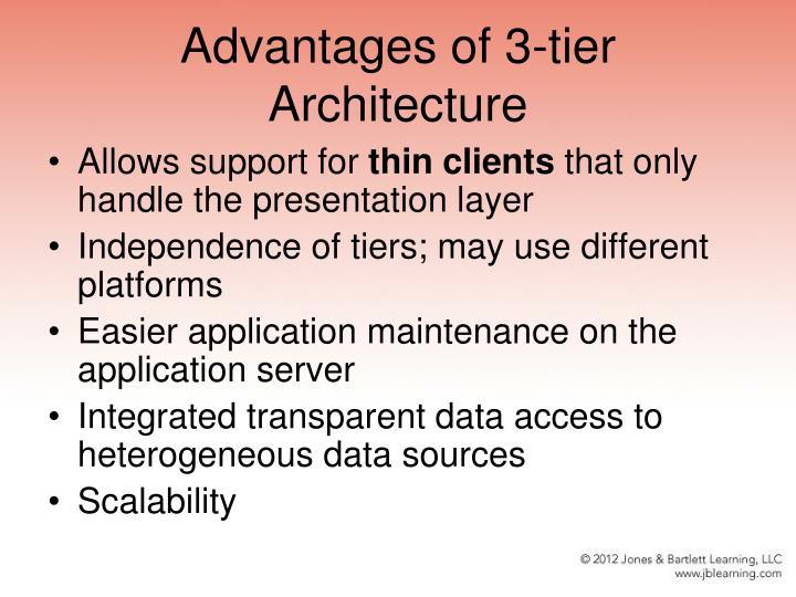 Advantages of 3-tier Architecture