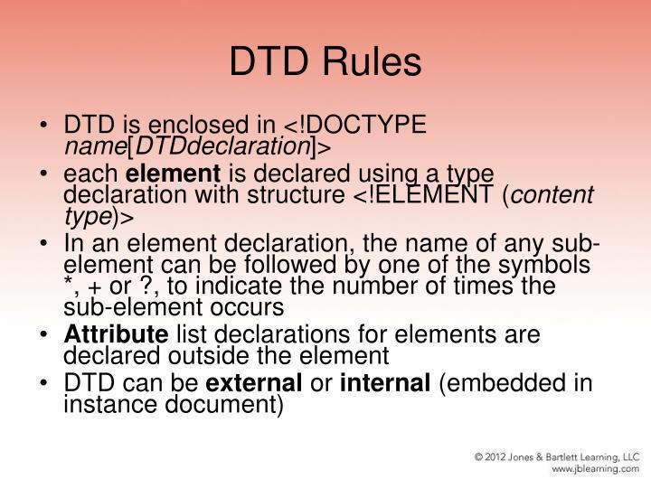DTD Rules