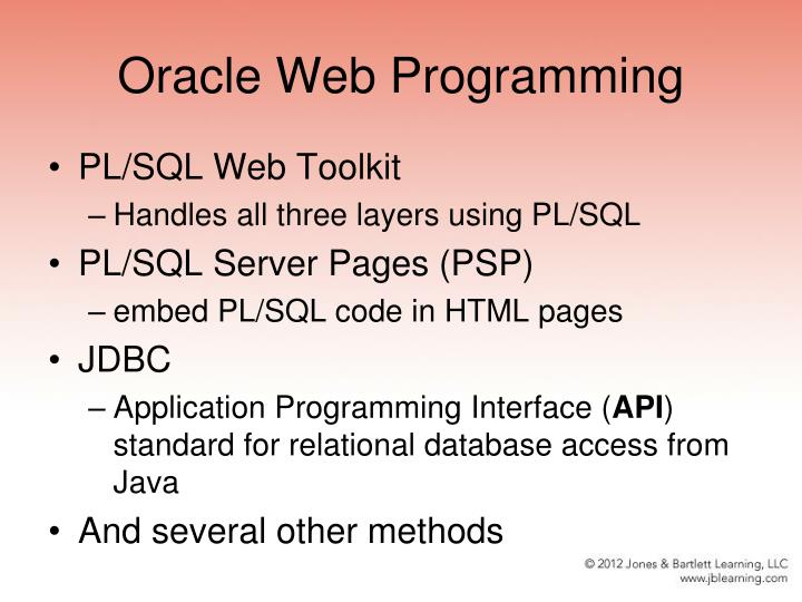 Oracle Web Programming