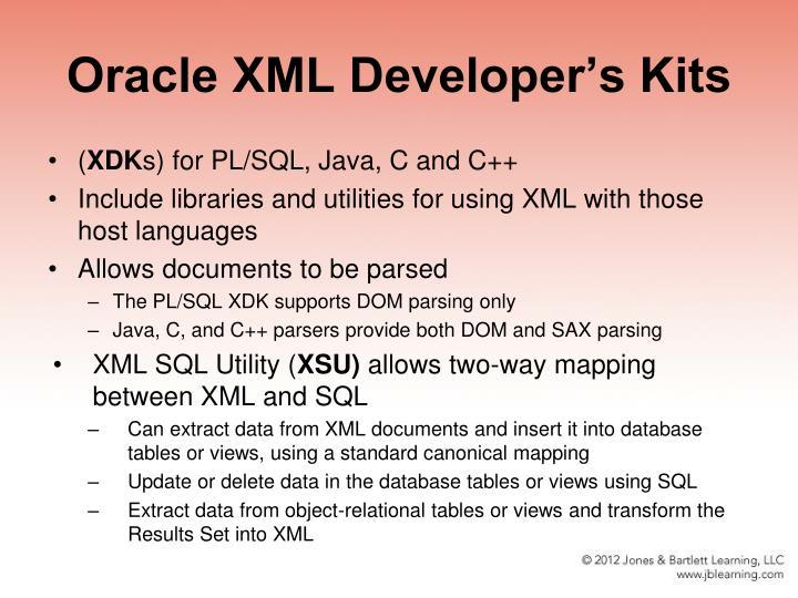 Oracle XML Developer's Kits