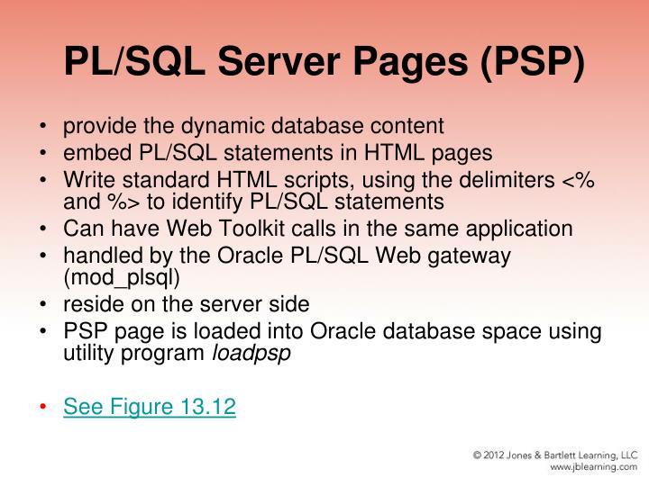PL/SQL Server Pages (PSP)
