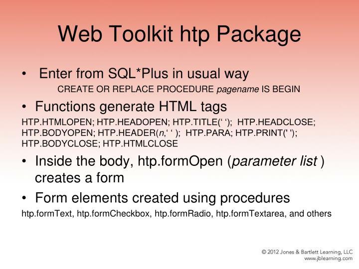 Web Toolkit htp Package