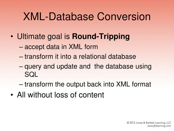 XML-Database Conversion