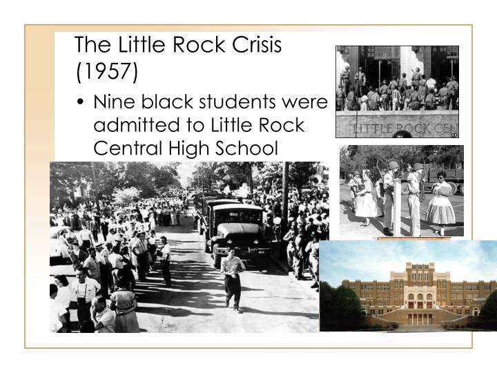 The little rock crisis 1957