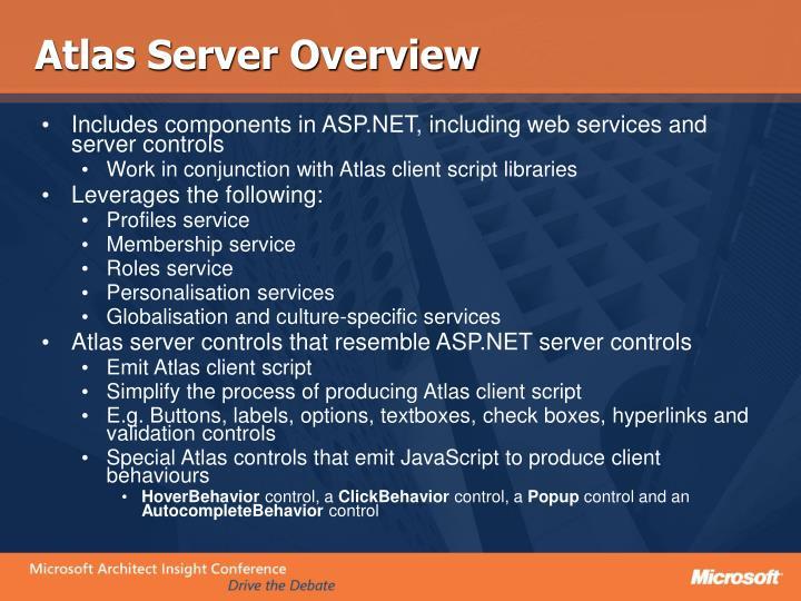 Atlas Server Overview