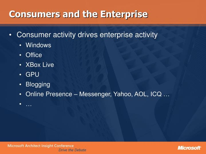 Consumers and the Enterprise