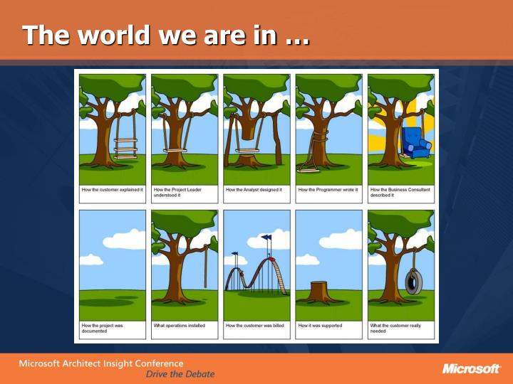 The world we are in …