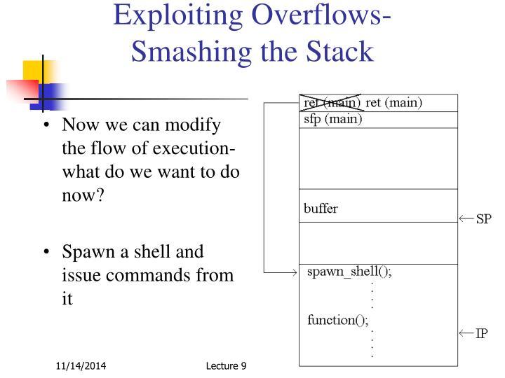 Exploiting Overflows-