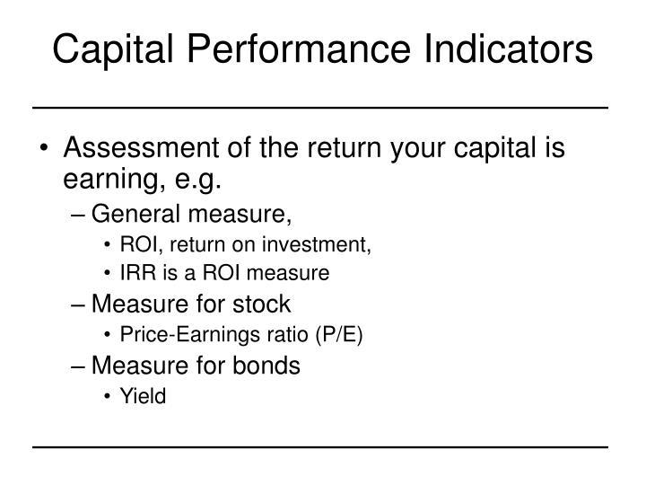 Capital Performance Indicators
