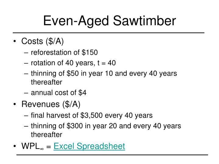 Even-Aged Sawtimber