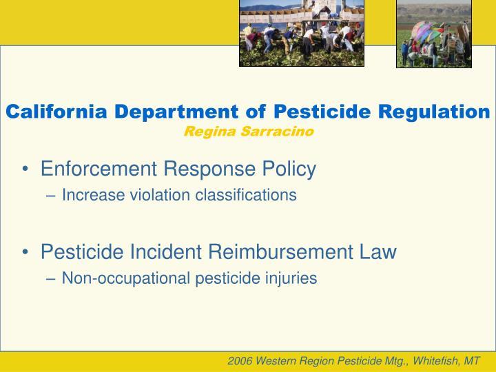 California Department of Pesticide Regulation