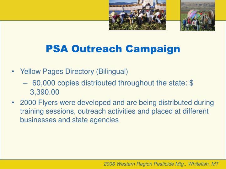 PSA Outreach Campaign