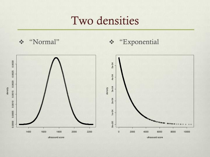 Two densities