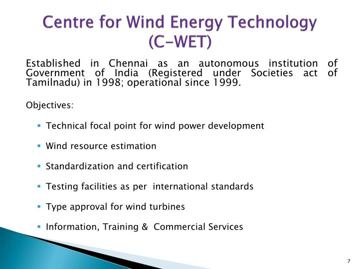 Centre for Wind Energy Technology