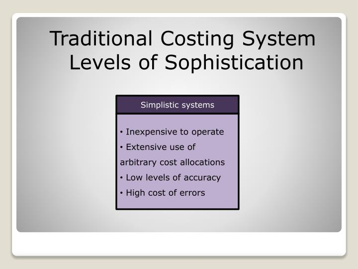 Traditional Costing System