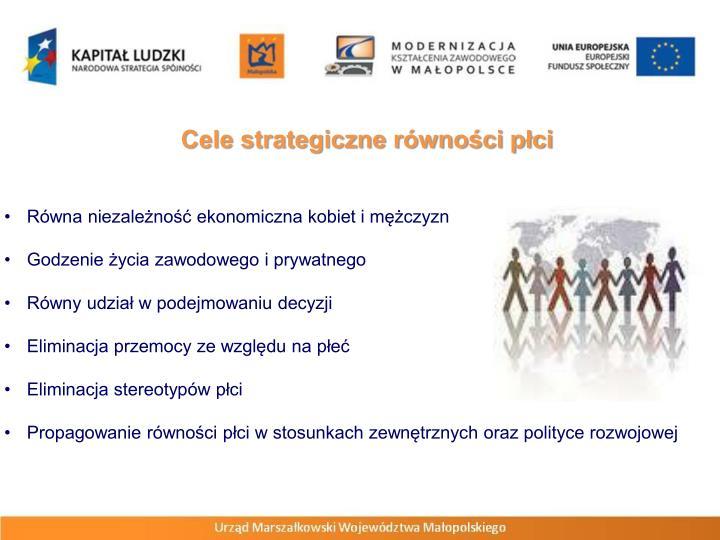 Cele strategiczne równości płci