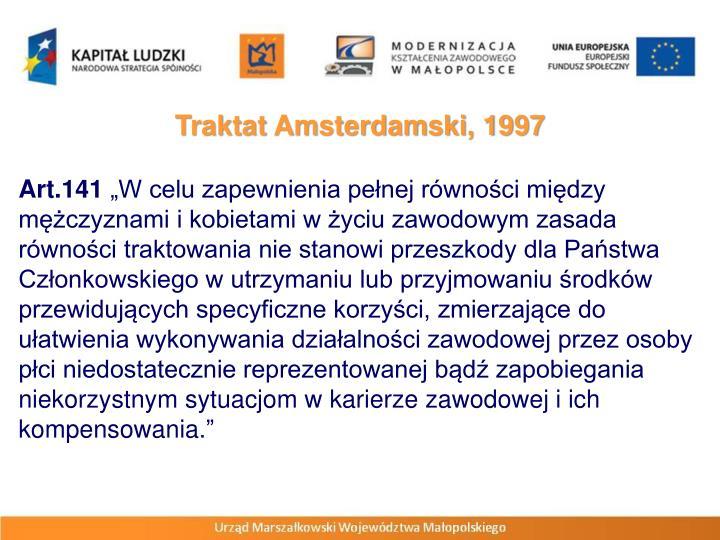 Traktat Amsterdamski, 1997