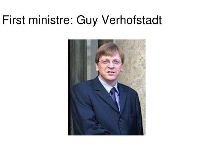 First ministre: Guy Verhofstadt