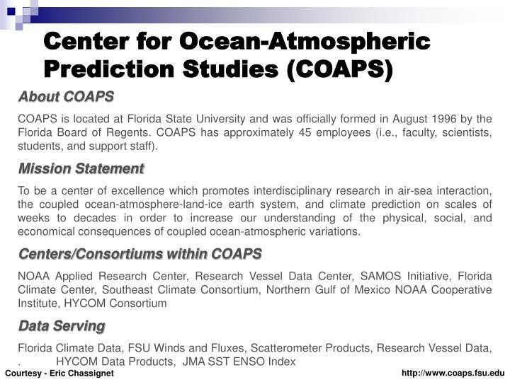 Center for Ocean-Atmospheric Prediction Studies (COAPS)