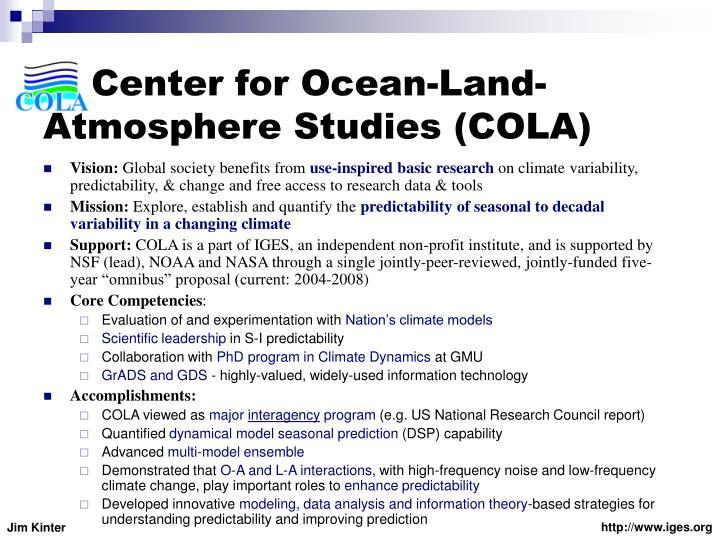 Center for Ocean-Land-Atmosphere Studies (COLA)