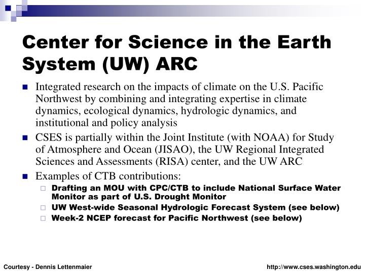 Center for Science in the Earth System (UW) ARC