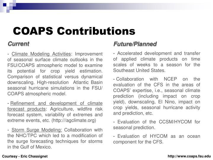 COAPS Contributions