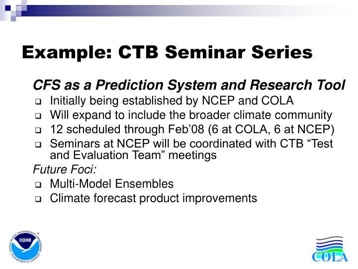 Example ctb seminar series