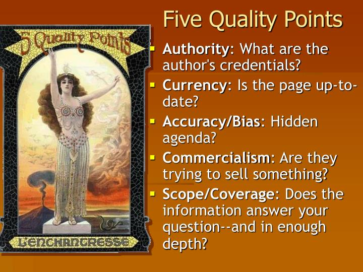 Five Quality Points