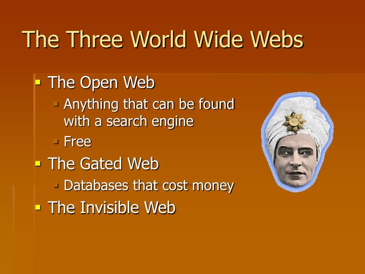The Three World Wide Webs