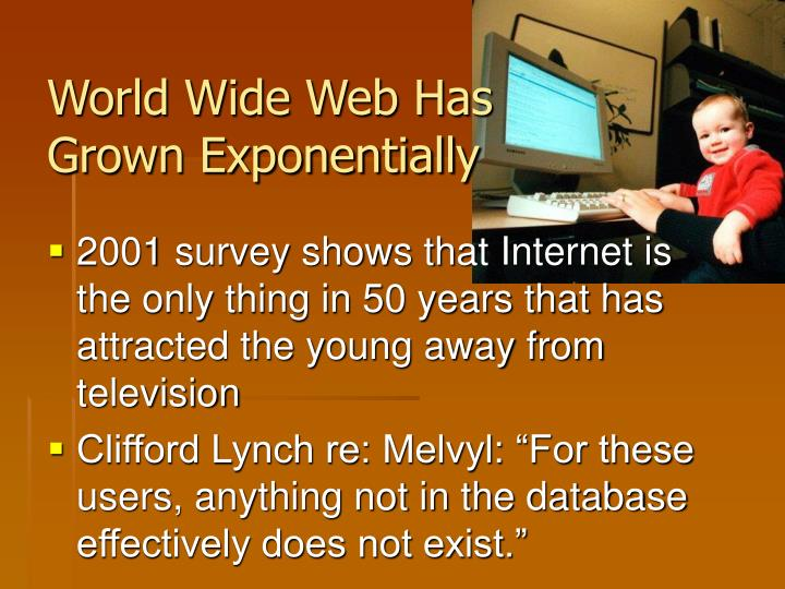 World Wide Web Has Grown Exponentially