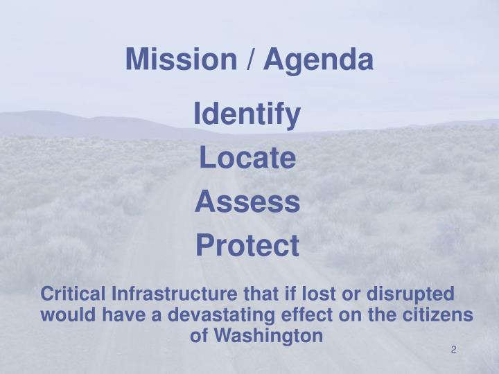 Mission agenda