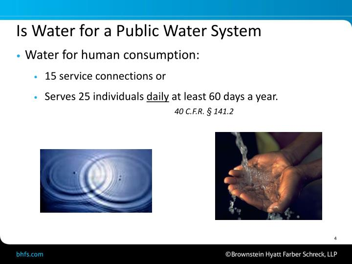 Is Water for a Public Water System