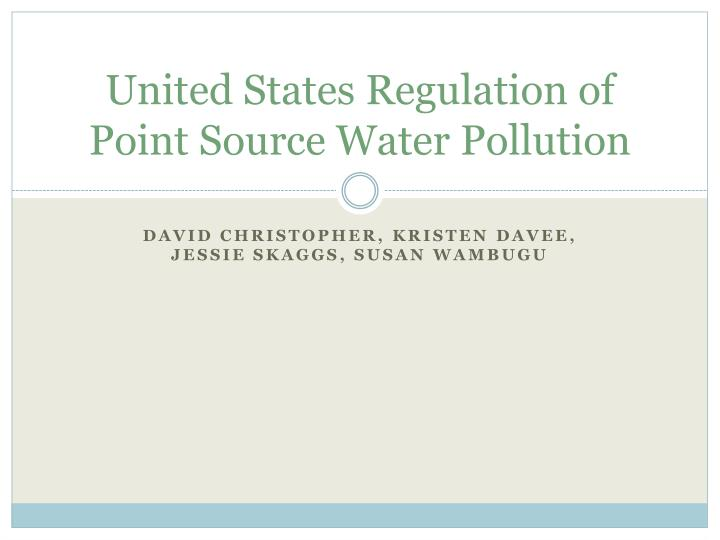 united states regulation of point source water pollution