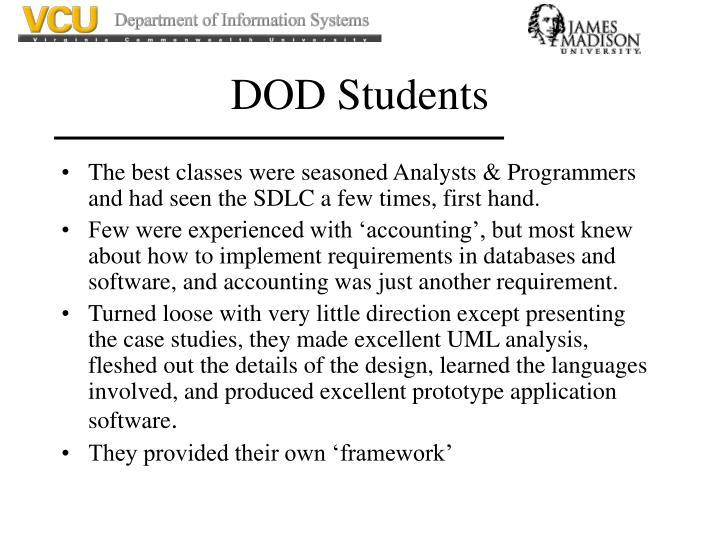 Dod students