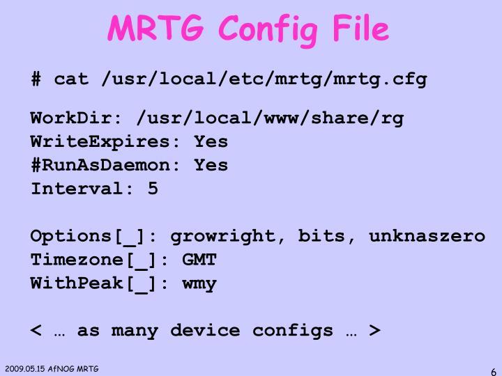 MRTG Config File