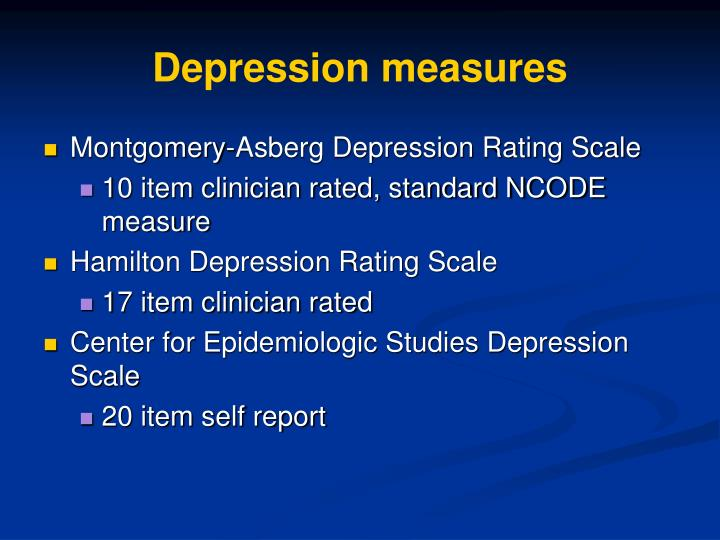 Depression measures