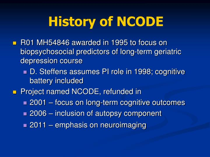 History of ncode