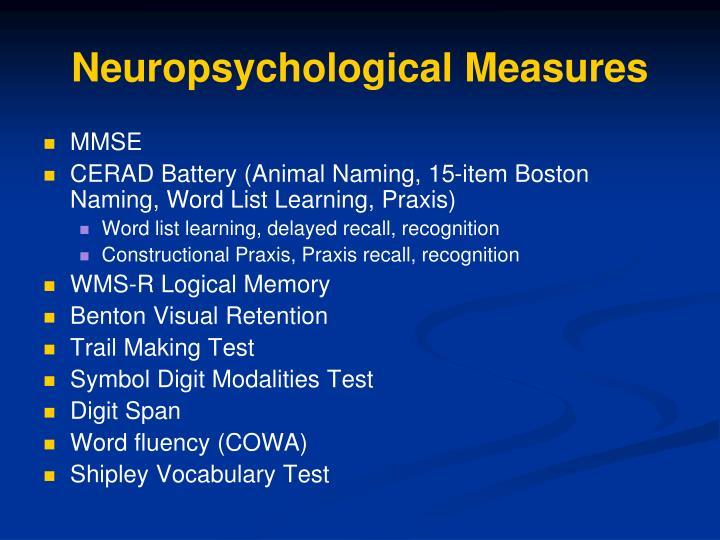 Neuropsychological Measures