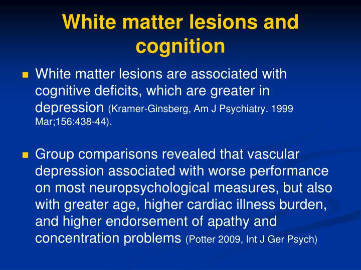 White matter lesions and cognition
