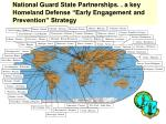 national guard state partnerships a key homeland defense early engagement and prevention strategy