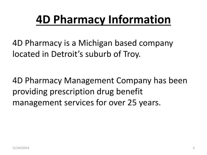 4d pharmacy information