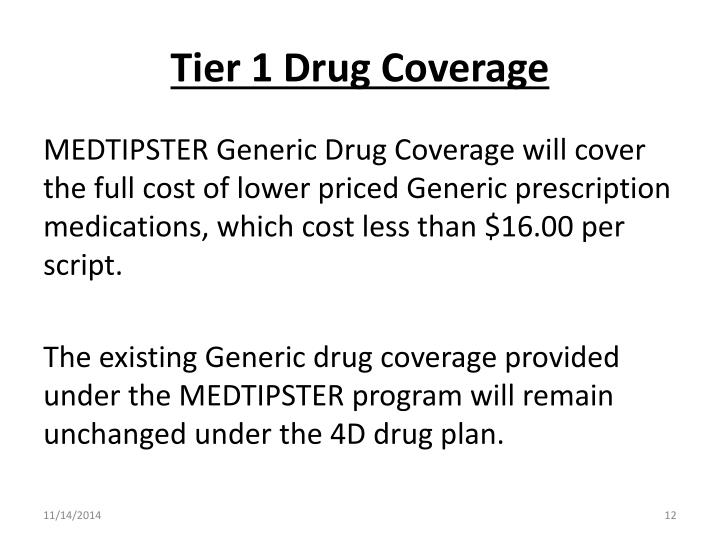 Tier 1 Drug Coverage