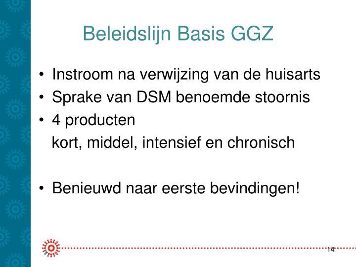 Beleidslijn Basis GGZ
